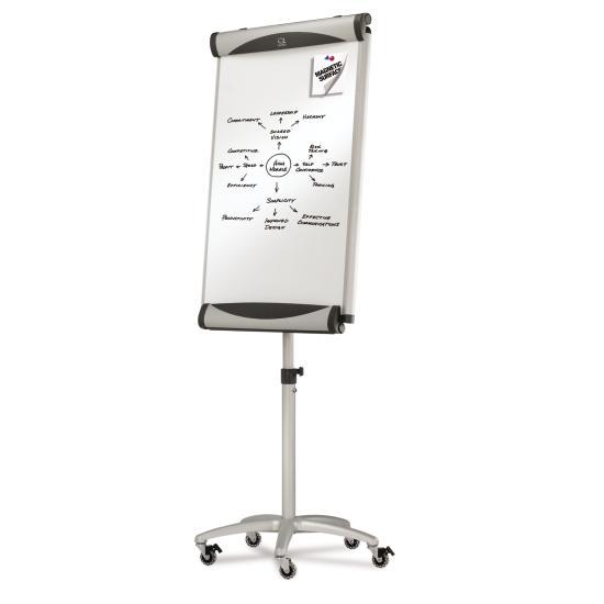 Quartet® Euro™ Magnetic Porcelain Total Erase® Mobile Easel-oisia-shopping-India