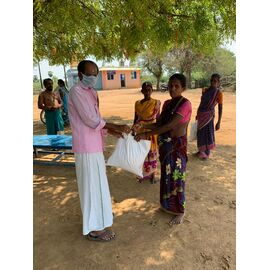 The groceries donation was given individually by our friend Prabhakar in Aranthanki on 02/05/2020