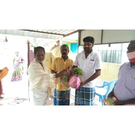 The groceries donation was given individually in Yembal on 22/04/2020 by our friend Muthaiah.