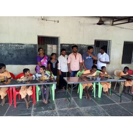 The food donation is given to Vallalar Kappaham, Aranthanki on different days on24/02/2019, 26/05/2019,30/07/2020byNaina mohamed college B.sc cs 2003 batch and Singai Udhavum Karangal friends.  One of the food donations was contributed by Madhavan from Singai Udhavum Karangal for his daughter birthday celebration.